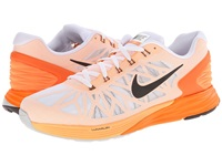 Nike Lunarglide 6 White Total Orange Peach Cream Black Men's Running Shoes