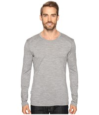 Icebreaker Tech Top Long Sleeve Crewe Metro Heather Metro Heather Metro Heather Men's Clothing Gray
