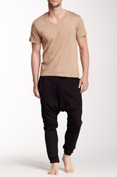 Bottoms Out French Terry Drop Crotch Jogger Black
