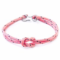 Anchor And Crew All Pink Foyle Rope Bracelet Pink Purple