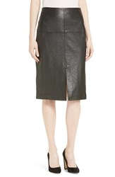 Rebecca Taylor Women's Leather A Line Skirt