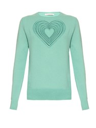 Christopher Kane Love Heart Wool And Cashmere Blend Sweater Multi