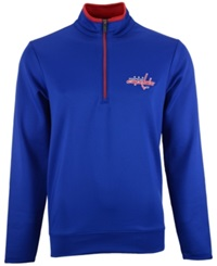 Antigua Men's Washington Capitals Quarter Zip Pullover Royalblue Red