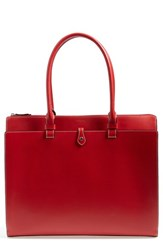 Lodis 'Audrey Collection Jessica' Leather Tote Red
