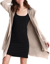 Ugg Hooded Open Front Cardigan Copper