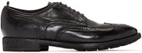 Officine Creative Black Princeton Oxfords