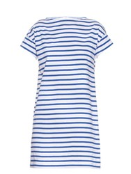 Orcival Breton Stripe Cotton Dress Blue White