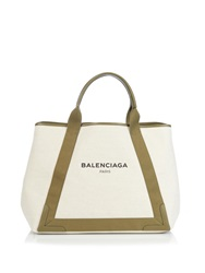 Balenciaga Navy Cabas M Cotton Canvas Shopper