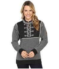 Dale Of Norway Valdres Sweater Dark Charcoal Off White Women's Sweater Gray