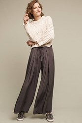Anthropologie Irra Pleated Wide Legs Carbon