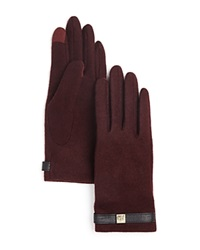 Lauren Ralph Lauren Tech Belt Gloves Oxblood