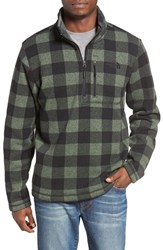 The North Face Men's Novelty Gordon Lyons Plaid Pullover Duck Green Grizzly Print