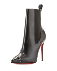 Christian Louboutin Banjo Spiked Cap Toe Red Sole Bootie