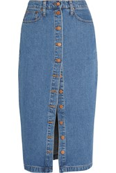 Madewell Denim Midi Skirt Mid Denim