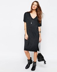 Asos Casual Burnout T Shirt Dress Grey