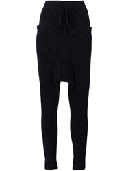 Baja East Cashmere Harem Trousers Black