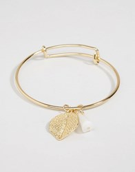 Ny Lon Nylon Gold Plated Leaf Bracelet Gold Plated