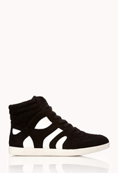 Forever 21 Fresh Faux Suede High Tops Black