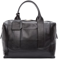 Pierre Hardy Black Leather Bandit Carryall Tote