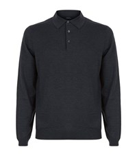 Boss Banet B Merino Polo Sweater Male Dark Grey