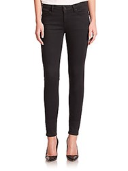 Joie Mid Rise Skinny Jeans Rinse Black