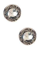 Lois Hill Sterling Silver Hammered And Granulated Round Stud Earrings Metallic