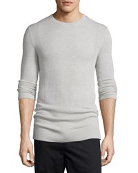 Helmut Lang Cashmere Front Panel Crewneck Sweater Sand Heather