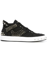 Philipp Plein Studded Hi Top Sneakers Black