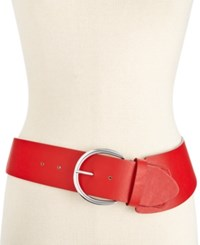 Styleandco. Style And Co. Casual Asymmetrical Stretch Belt Only At Macy's Red