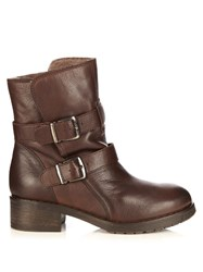Max Mara Menta Ankle Boots Dark Brown