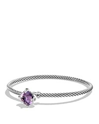 David Yurman Chatelaine Bracelet With Amethyst And Diamonds Purple Silver