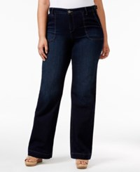 Styleandco. Style Co. Plus Size Flared Leg Jewel Wash Jeans Only At Macy's