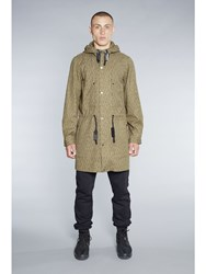 Christopher R Burn Remade Raindrop Parka Olive Green