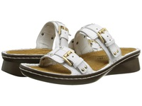 Naot Footwear Karaoke White Leather Women's Slide Shoes