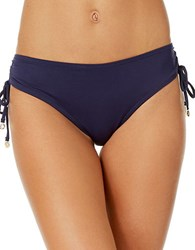 Anne Cole Live In Color Alex Side Tie Bikini Bottom Navy