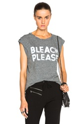 Pam And Gela Bleach Please Muscle Tee In Gray