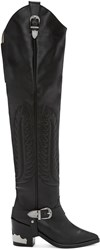 Toga Pulla Black Western Over The Knee Boots