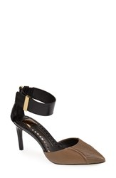 Dolce Vita Women's Leather Ankle Strap D'orsay Pump