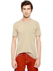 Cycle Basic Cotton Jersey T Shirt Beige