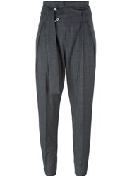 Iro Buckled Cropped Trousers Grey