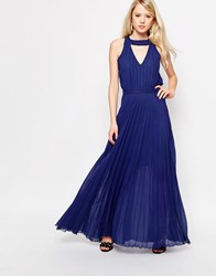 Jovonna Sonoma Maxi Dress With Cut Out Back Navy