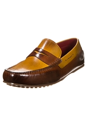Melvin And Hamilton Driver Slipons Crust Yellow Wood