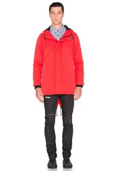 Black Scale Torpedo Jacket Red