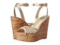 G By Guess Ethal Gold Women's Wedge Shoes