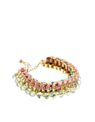 Love Rocks Beaded Wrap Bracelet Pink