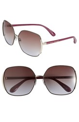 Women's Marc By Marc Jacobs 61Mm Vintage Inspired Oversized Sunglasses Brown Purple