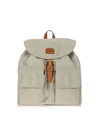 Bric's X Travel Nylon And Leather Backpack Pearl