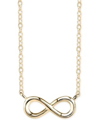 Unwritten Infinity Pendant Necklace In 14K Gold Plated Sterling Silver