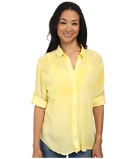 Gabriella Rocha Penny Button Up Top Lemon Women's Clothing Yellow