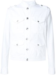 Pierre Balmain Buttoned Denim Jacket White